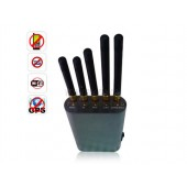 Portable Handheld Cell Phone + WiFi + GPS Signal Jammer Up To 8 Meters