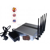 Hot New Most Powerful 12W 3G 4G LTE Cell Phone Signal Jammer with Remote Control