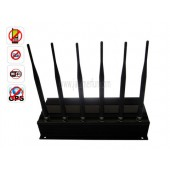 High Quality Strong Efficient High Power 6 Antenna Cell Phone GPS WiFi Signal Jammer