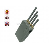 Handheld Portable High Power Cell Phone GPS Wi-Fi Signal Jammer - Omnidirectional Antennas