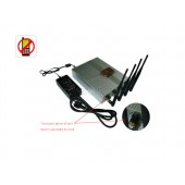 Most Powerful Adjustable Remote Control Mobile Phone Signal Jammer With 60 Meters