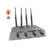 Powerful 4 Bands GSM CDMA  DCS 3G Mobile Phone Jammer With 50 Meters Radius