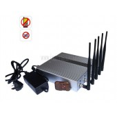 Most Powerful 5 Band Cellphone 3G Jammer Blocker with Remote Control