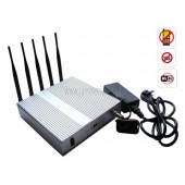 Buy 5 Band Cellphone WIFI Signal Jammer with Remote Control + Omnidirectional Antennas